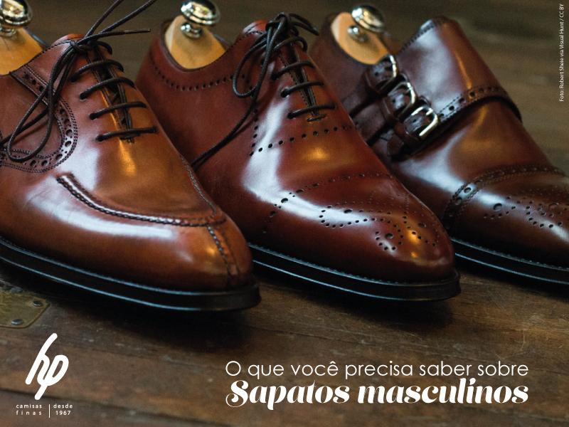 08295f7de Aprenda sobre sapatos masculinos - Confecções HP